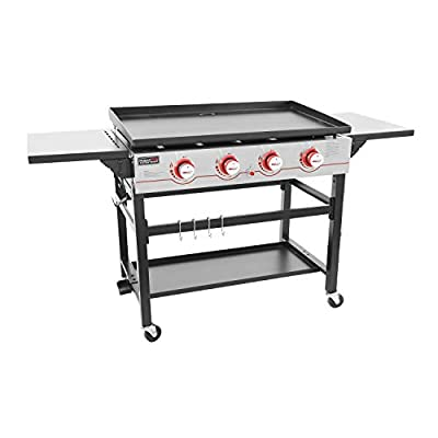 Royal Gourmet GB4000 36-inch 4-Burner Flat Top Propane Gas Grill Griddle, for BBQ, Camping, Black