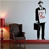 Graffiti Coole Anzug Krawatte Hut Mann Tasche Tapete Wandaufkleber Aufkleber Wandbild Kunst 45X130 Cm Dekoration