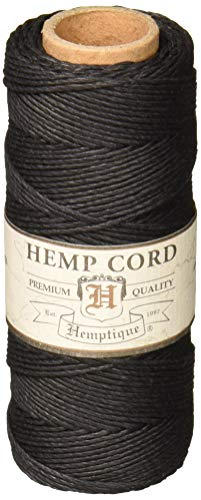 Hemptique 20 Lbs Hemp Cord Spool Black