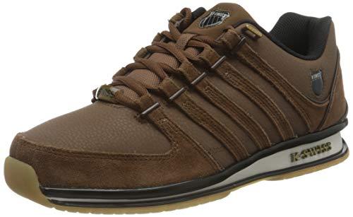 K-Swiss Mens Rinzler Sneaker, Bison/Chocolate/BLK, 46 EU