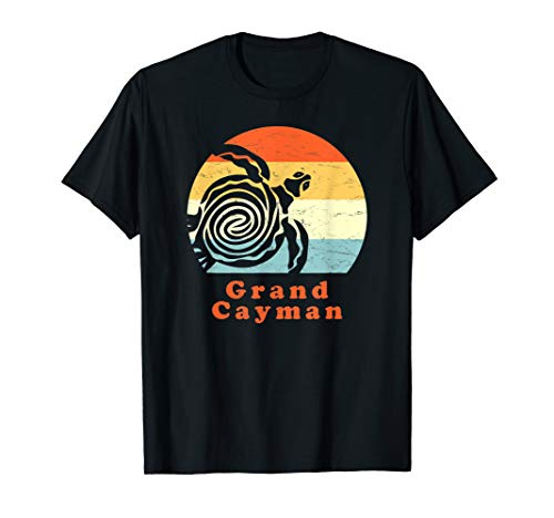 Vintage Retro Grand Cayman Tribal Turtle Sun Vacation Gift T-Shirt