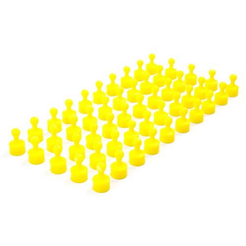 50 vollfarbige gelbe Neodym Magnet-Pins/Push-Pins für Whiteboard, Kühlschrank