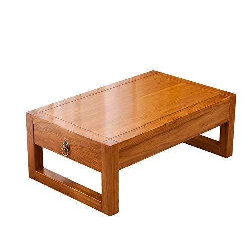 Tablas de café pequeña sala de estar China tatami Mesa de café, mini creativo de suelo vector en balcón, simple hogar, oficina Tabla Té Con cajón de la mesa (70 * 45 * 30 cm) ( Color : Orange )