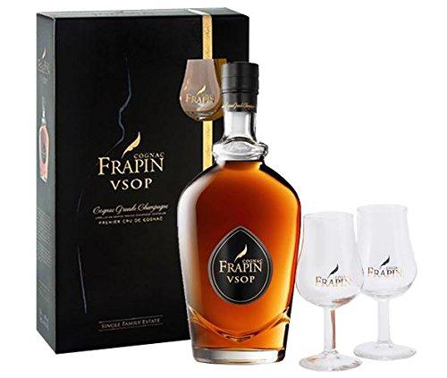 Frapin VSOP mit Gläsern Cognac 40% 0,7l Flasche
