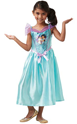 Rubie's officiële Disney prinses pailletten jasmijn klassieke kostuum, kinderen