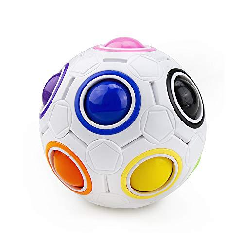 welltop Magic Ball, Magisch Regenbogen Puzzle Zauber Ball Fidget Spielzeug für Konzentration, Langlebig für Gehirntraining Spiel Geburtstagsgeschenk für Kinder