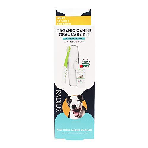 RADIUS USDA Organic Dental Solutions Adult Kit Toothbrush & Toothpaste
