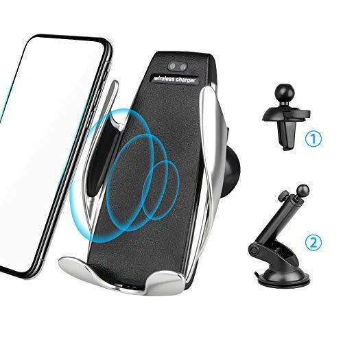 EEEKit Wireless Automatic Clamping 7.5W / 10W Qi Veloce Car Charging Phone Holder Air Vent Dashboard Parabrezza per iPhone, Samsung e Tutti i dispositivi Qi