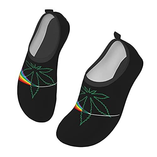 C-shop Pink Floyd Pot Leaf Hombre y Mujer Al Aire Libre Desnudo Natación Zapatos de Agua y Zapatos de Deportes Acuáticos, color Negro, talla 38 EU