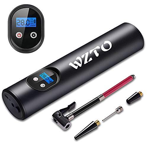 WZTO Compressore Aria Portatile Auto, Mini Pompa Elettrica 150PSI 2000mAh Ricaricabile con Schermo Digitale LED Cavo USB per Moto, Auto, Bicicletta e Palla