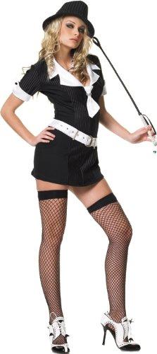 Leg Avenue Women's Gangster Moll Dress, Black, Small