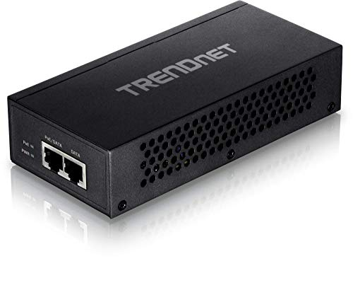 TRENDnet Gigabit Ultra PoE+ Injector, TPE-117GI, Supplies PoE (15.4W)/PoE+ (30W) or Ultra PoE (60W), Network a PoE device Up to 100m (328 ft), Supports IEEE 802.3af/802.at/Ultra PoE, Plug & Play,Black
