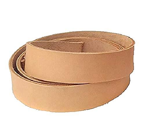 Tira de cuero de 30 mm, de color piel natural