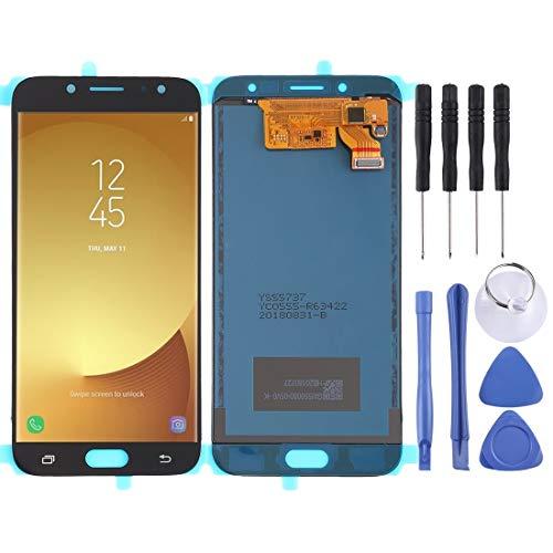 Vervangend LCD-scherm voor Samsung Galaxy J7 (2017), J730F/DS, J730FM/DS,  Blanco Y Gris