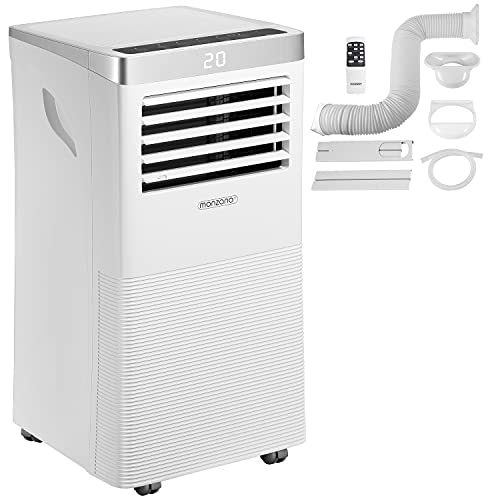 Monzana Klimaanlage MZKA780 Mobil 4in1 Fernbedienung mit Abluftschlauch 7000 BTU Schlafmodus Klimagerät Luftentfeuchter