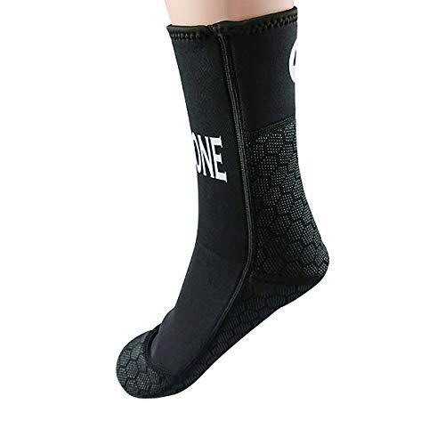 LayaTone Tauchsocken 3mm Neoprensocken Herren Surfen Stiefel Boots Tauchen Schnorcheln Spearfishing Socken Erwachsene Schwimmen Wassersport