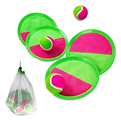 Paddle Toss and Catch Ball Set, Paddle Game Set...