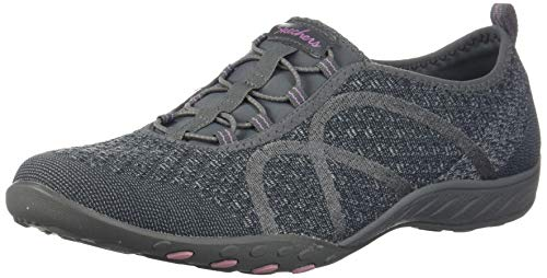 Skechers Sport Women's Breathe Easy Fortune Fashion Sneaker,Charcoal Knit,8 M US