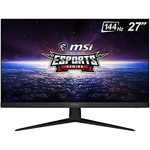 MSI Optix G271 - Monitor Gaming de 27' FullHD 144Hz (1920 x 1080p, Panel IPS, ratio 16:9, AMD FreeSync, brillo 250nits, 1 ms de respuesta) negro, compatible con consolas