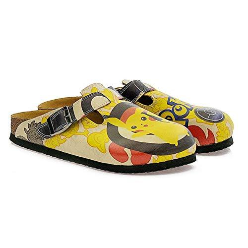 Yellow Pokemon Clogs CAL310