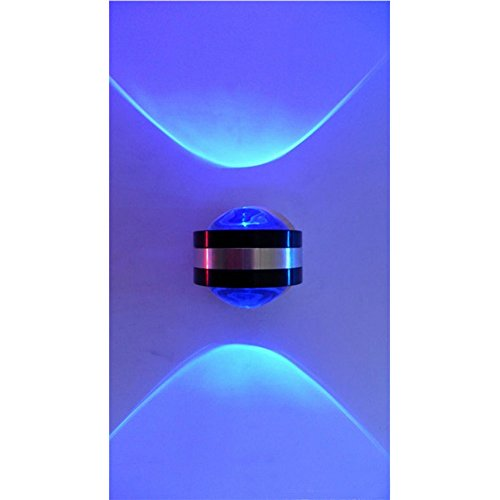 Cheng LED Peterhof cristallo lampada da parete camera da letto lampada da comodino soggiorno lampada da parete Bar Decorazione Spotlight, blu
