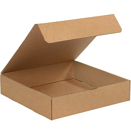 Aviditi Brown Kraft Literature Mailing Boxes, 13 x 13 x 2 Inches, Pack of 50, Crush-Proof, for Shipping, Mailing and Storing