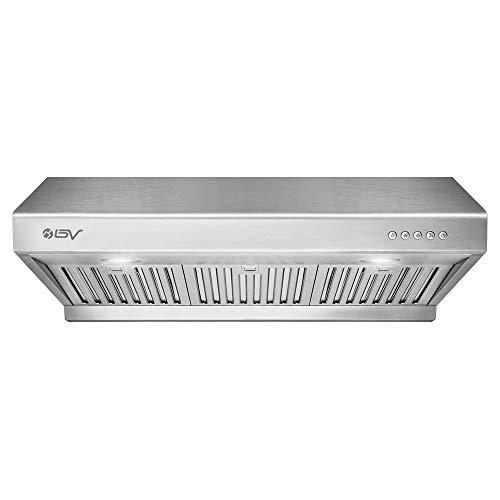BV Range Hood - 30 Inch 750 CFM Under Cabinet Stainless Steel Kitchen Range Hoods, Dishwasher Safe Baffle Filters w/LED...