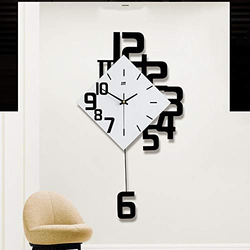 LG Snow Reloj Digital Personalizado Reloj Creativa salón Reloj de Pared de Madera Mesa Decorativa Colgante de Cuarzo 63 * 34cm