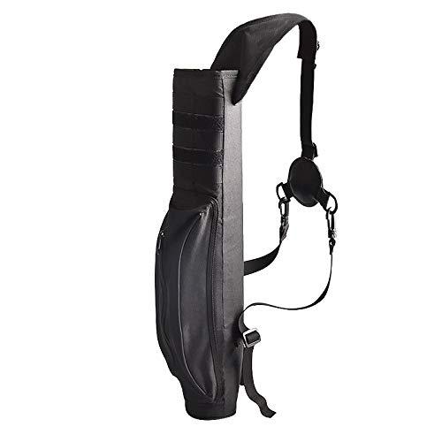 Summum Carcaj de Flecha Trasera, Accesorios de Tiro con Arco, Impermeable, Oxford, para Colgar en el Hombro, Bolsa para 40 Flechas, Multi Pocket Negro