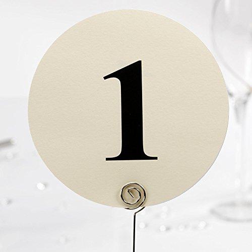 12 NUMÉROS DE TABLE ROND IVOIRE