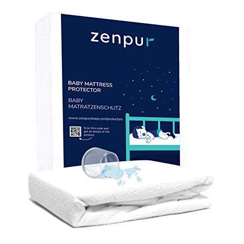 ZenPur Matratzenschoner für Baby Matratze 60x120 cm – Matratzenschutz mit BI-OME Behandlung - Hypoallergen, Anti-Milben - wasserdichte Matratzenauflage für Baby Matratze 60 x 120 cm