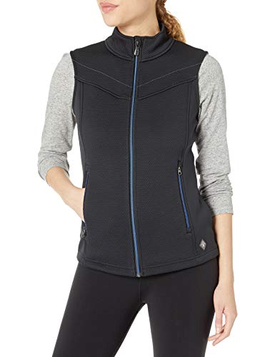 Spyder Damen Encore Fleece Weste - Damen Full Zip Sleeveless Sweater Vest, Damen, Encore Fleece Vest, schwarz, Medium