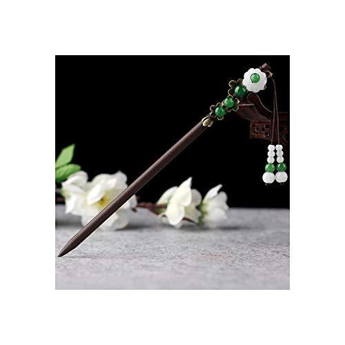 Haar Sticks- Vrouwen Haar Stick Vintage Haar Sieraden Voor Vrouwelijke Meisjes Rood Groen Wit Steen Kwastje Hoofd Sieraden Etnische Haarspelden Groen