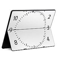 igsticker Surface Pro X 専用スキンシール サーフェス プロ エックス ノートブック ノートパソコン カバー ケース フィルム ステッカー アクセサリー 保護 009480 時計 インテリア 白 黒