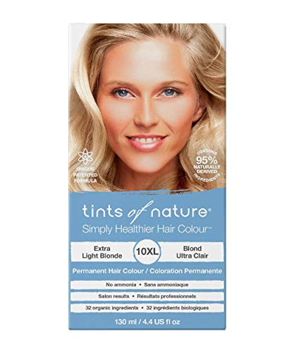 Tints of Nature 10XL Extra Light Blonde, Vegan Permanent Hair Dye, 95% Natural, Free from Ammonia, Parabens, and Propylene Glycol, Single