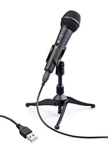 Tie Studio Dynamische USB-microfoon voor zang- & spraakopnames op de pc (incl. popbescherming, USB-kabel, tripod & klem)