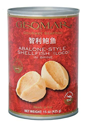 Chilean Gourmet Seafood Abalone (locos),15 Ounces, 6 per Case