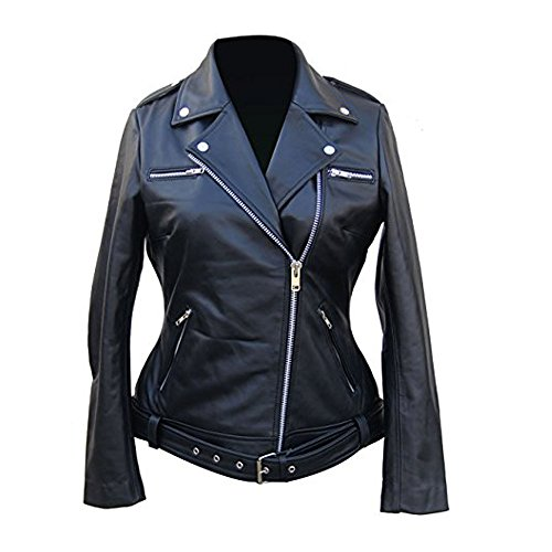 Fashion Vision Jacket The Walking Dead Negan Jacket For Women (Medium)
