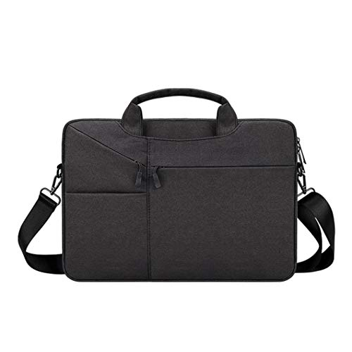 Business One-shoulder Handbag, Breathable and Waterproof Oxford Cloth Material-nylon Lining Briefcase, 13.3 Inches, 15.6 Inches [black Blue Gray] black-13.3 inch