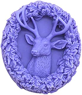 Silicone Mold Deer Head Shape, Craft Art Silicone Soap Mold, Craft Molds DIY Handmade Milu Deer Soap Molds - The Best Handmade Christmas Gifts - Molds Making Supplies by YSCEN - 06