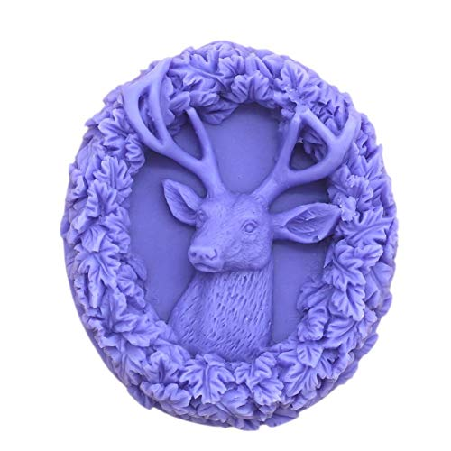 Silicone Molds Christmas Deer, Antlers Craft Art Silicone Soap Mold, Craft Molds DIY Handmade Milu Deer Soap Molds - The Best Handmade Gifts - Molds Making Supplies by YSCEN