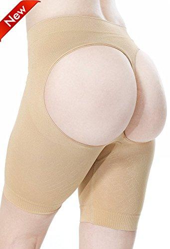 BINCHENG Womens Underwear Shapewear Waist Butt Shaper Lifter Panty Tummy Control Panties 2XL/3XL Beige