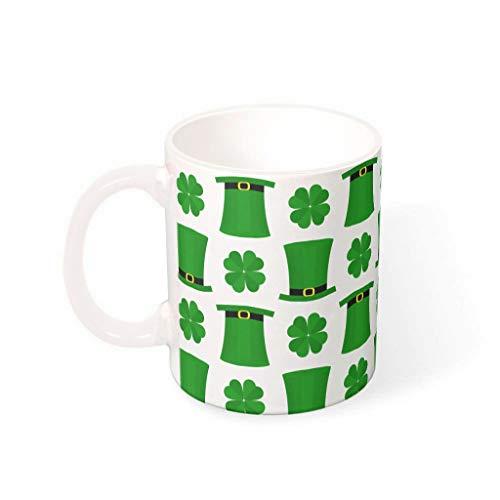 Fineiwillgo Taza de café de porcelana con asa multicolor, diseño de St. Patrick es Day, 330 ml
