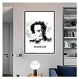 CCZWVH Gustav Mahler Leinwand Poster Wohnkultur Retro