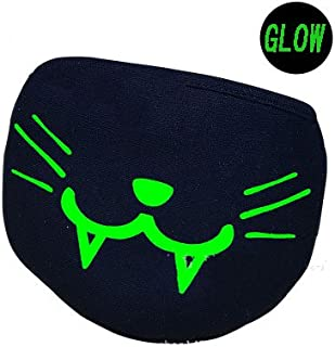 Glow in The Dark Cotton Masks Cute Bear and Demon Half Mouth 3D Face Mask Anti Dust Muffle Face Mouth Mask for Cycling Party