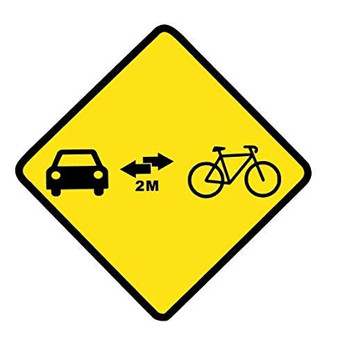 Desconocido Vinilo de Corte Pegatina respeta al Ciclista Distancia de Seguridad 12x12cm