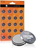 CR1616 Battery (20 Pack) 3V Lithium Button Cell CR 1616 Batteries for Car Key FOBs Thermometers Remotes EmazingLights