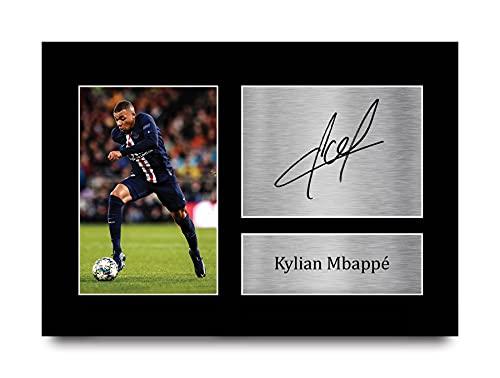 HWC Trading Gift Kylian Mbappe Getekend A4 Printed Handtekeningen Paris Saint-Germain Psg Gifts Print Picture…