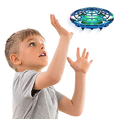 Hand Operated Drones for Kids or Adults - Scoot Hands Free Mini Drone Helicopter, Easy Indoor Small Orb Flying Ball Drone Toys for Boys or Girls (Blue) by Force1