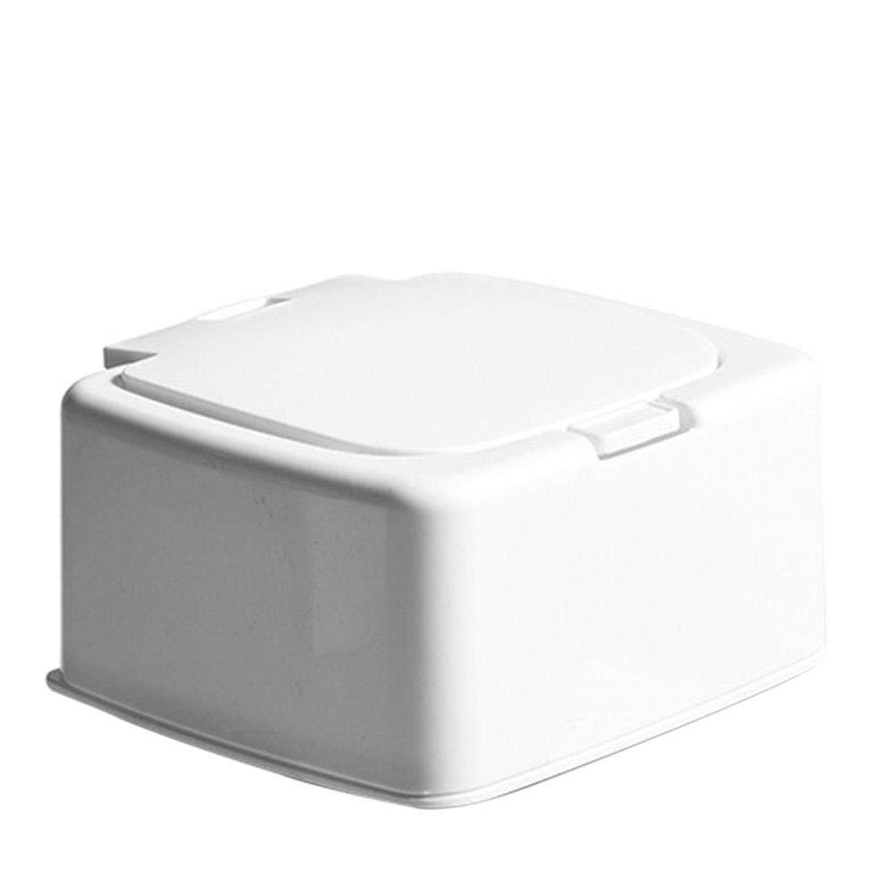 RedKids Press - Caja cuadrada para hisopos de algodón, organizador de maquillaje, elegante tarro de almacenamiento para hisopos de algodón o almohadillas de maquillaje, style 1: Amazon.es: Hogar